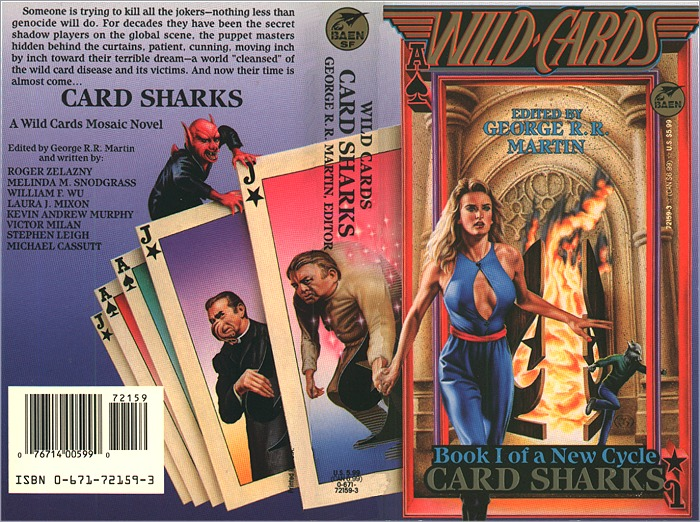<i>Wild Cards XIII: Card Sharks</i>,<br />Baen Paperback 1993 (US),