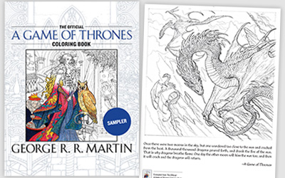 The Official A Game of Thrones Coloring Book Sampler